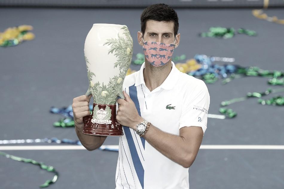 Novak Djokovic, campeón 2020 Foto Western & Southern Open @CincyTennis