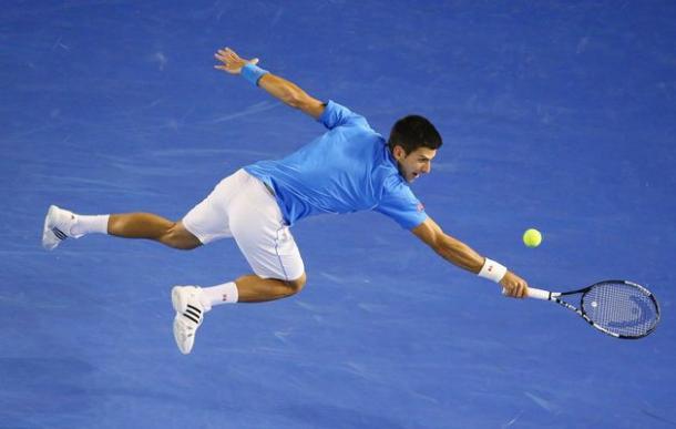 Djokovic en Abierto de Australia. Foto: australianopen.com