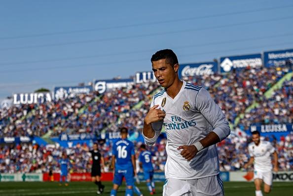 Cristiano comemorando o seu primeiro gol no campeonato | Foto: Oscar Del Pozo/Getty Images