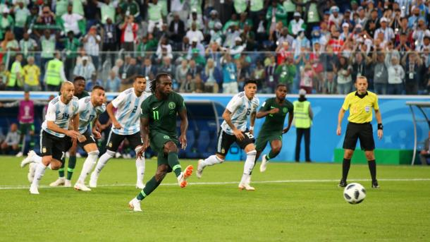 Victor Moses gave Nigeria some hope in the second half | Source: Getty Images via FIFA.com