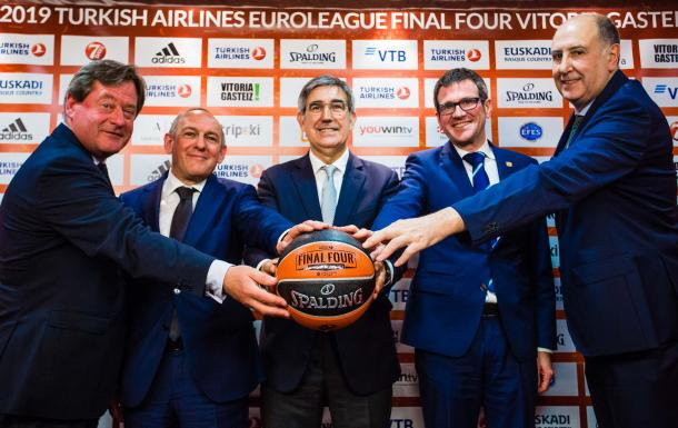 Presentación de la Final Four Vitoria-Gasteiz 2019. | Foto: Euroleague