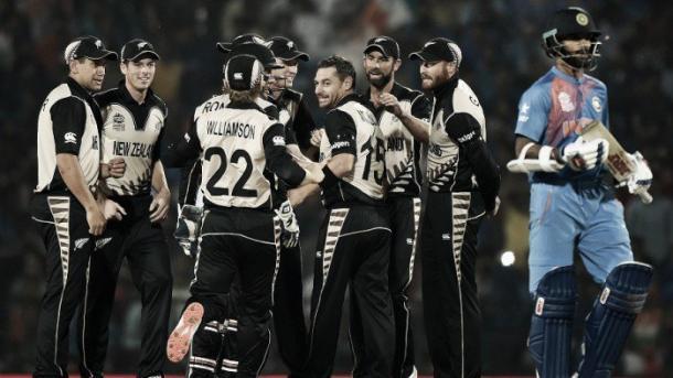 New Zealand celebrate against India (photo: afp)