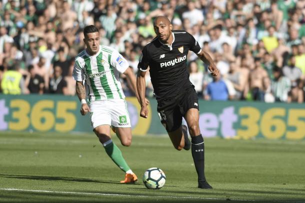 N'Zonzi en el derbi.   Foto: Sevilla FC