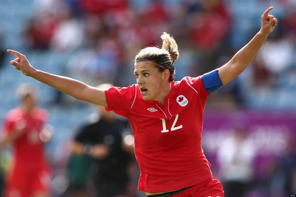 Can Christine Sinclair continue to close the gap on Abby Wambach? (Photo: Getty)