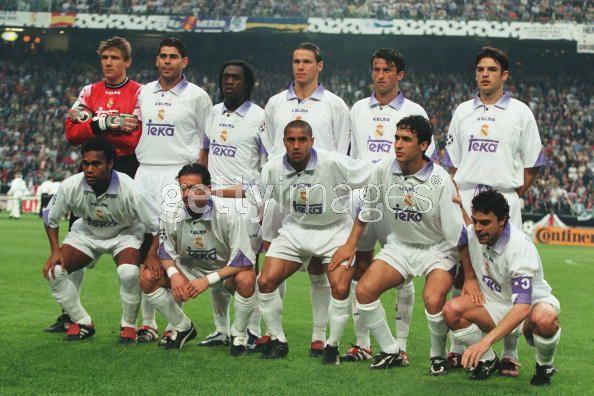 Equipo del Real Madrid, apeado de la Copa, en 1998. Fuente: gettyimages