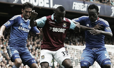 Obinna spent the 2010/11 season on loan at West Ham United, scoring three goals in 25 appearances. (Photo: The Guardian)