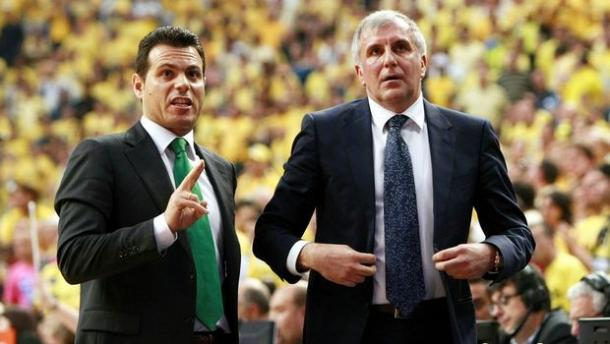 Obradovic ed Itoudis, assieme sulla panchina del Pana - Source Getty Images