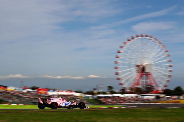 Esteban Ocon, durante el GP de Japón. Foto: Lars Baron/Getty Images