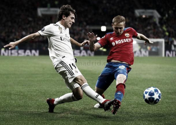 Odriozola ha demostrado sus enormes cualidades en el lateral / Foto: Real Madrid