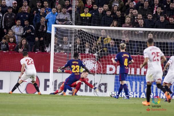 Momento do gol de Vázquez   Foto: Divulgação/La Liga