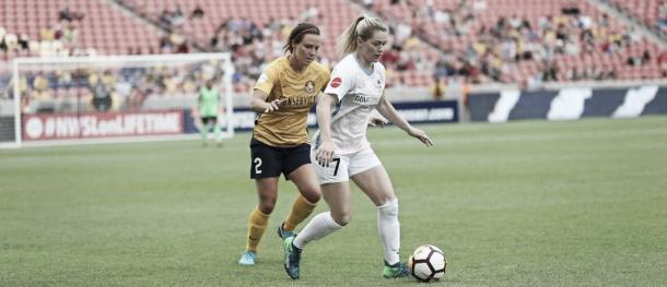 Kealia Ohai with the Houston Dash on Saturday May 19, 2018 | Photo: Houston Dynamo