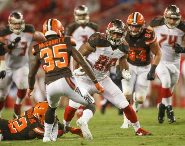 Tampa Bay's first round draft pick TE O.J. Howard in preseason action | Picture Credit: buccaneers.com