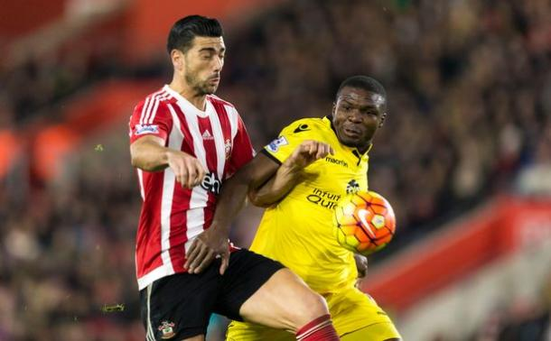 Okore in action against Southampton (photo: getty)