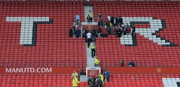 Vazio toma conta de Old Trafford (Foto: Oli Scarff/Getty Images)