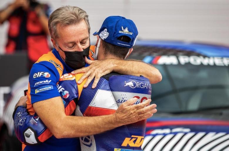 Hervé Poncharal y Miguel Oliveira / foto: motogp.com