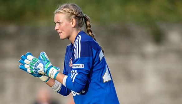 Norwegian stopper Hilde Gunn Olsen was on the receiving end of an unfortunate goal (Source: FAWSL)