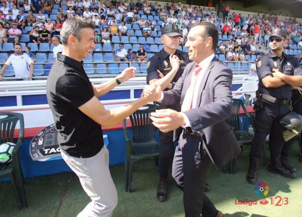El técnico José Luis Oltra volvía a la que fue su casa | Foto: C.D. Tenerife