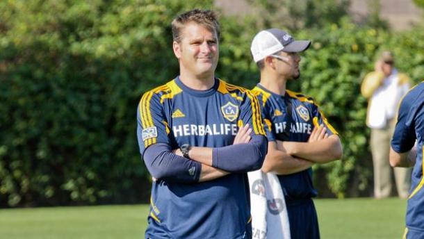 Onalfo en un entrenamiento dle Galaxy (Imagen: lagalaxy.com)