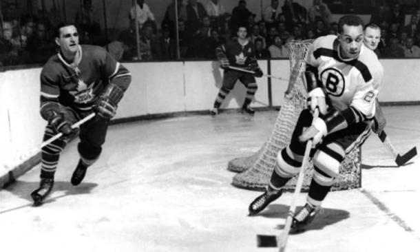 Willie O'Ree played 45 games with the Boston Bruins over parts of two seasons. (Photo: NHL.com)