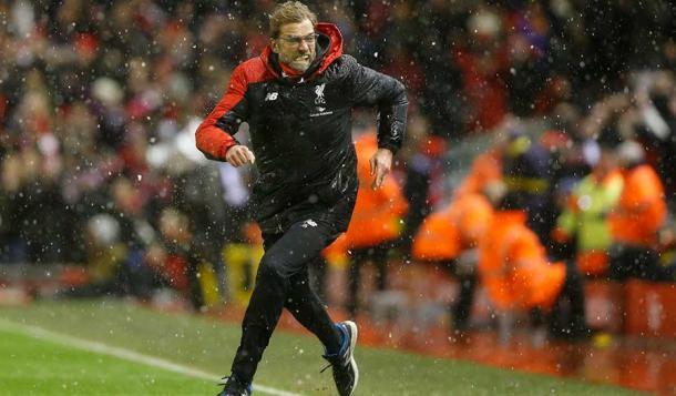 Un exaltado Klopp celebra el tanto del empate.  | Foto: Premier League