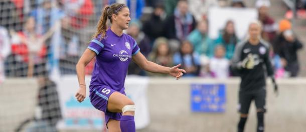 Laura Alleway in action for the Pride | Source: Orlando City SC