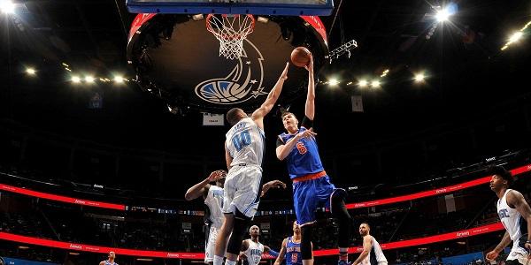 Procedure di decollo: dimostrano Gordon e Porzingis - Foto NBA.com on Twitter