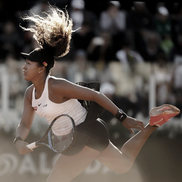 Naomi Osaka durante el pasado torneo de Roma. Foto: zimbio.com