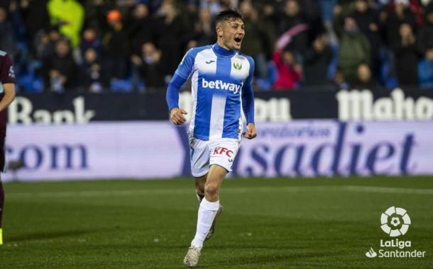 Óscar Rodríguez celebrando un gol ante el Celta| Fuente: LaLiga