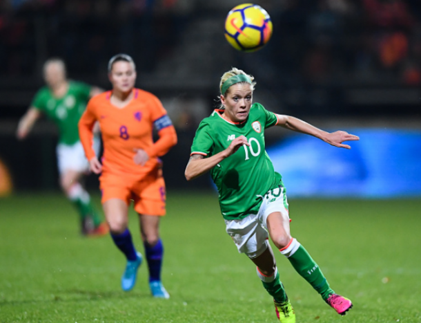 Ireland midfielder Denise O'Sullivan is one of six international players on the Courage that could miss training camp time due to international duty. | Photo: Stephen McCarthy - Sportsfile via Getty Images