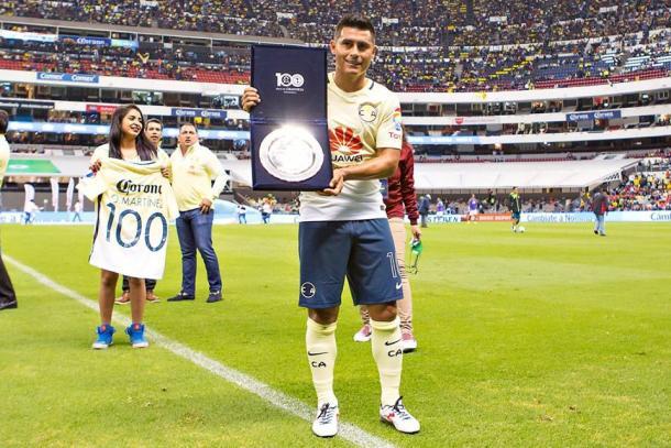 Osvaldito, ya es parte de la historia del club   Foto: Club América