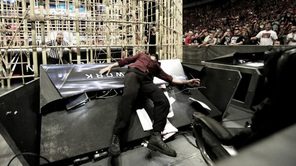 A bump that Shane McMahon would be proud of. Photo-WWE.com
