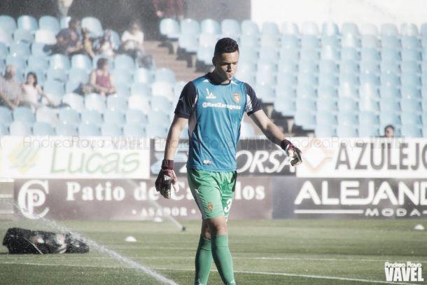 Óscar Whalley en su etapa en el Real Zaragoza. | Imagen: Andrea Royo-VAVEL.