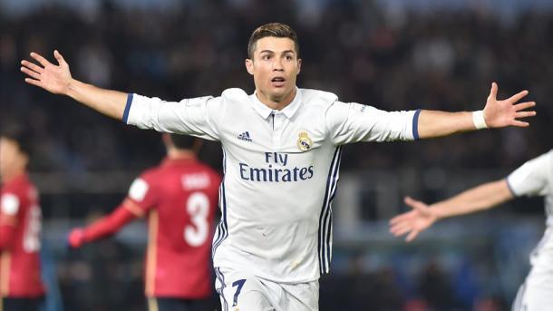L'esultanza di Ronaldo dopo la tripletta al Kashima (Fonte foto: BBC)