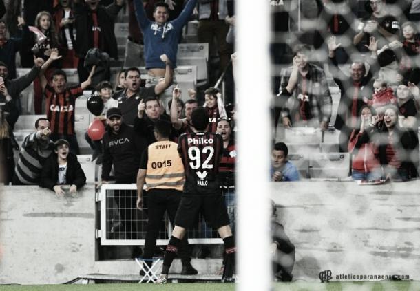 Com gols decisivos, Pablo se tornou peça fundamental no elenco do Furacão (Miguel Locatelli / CAP)