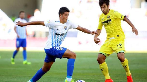 Pablo Fornals enfrentando a su actual equipo. Foto: Málaga CF