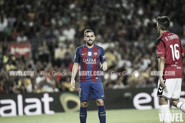 Paco Alcácer con el Barcelona | Foto: VAVEL