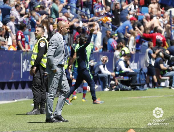 Jémez durante un partido   Fotografía: La Liga