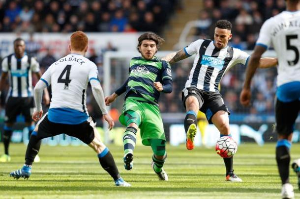 Paloschi in action against Newcastle last time out. (Picture: Getty Images)