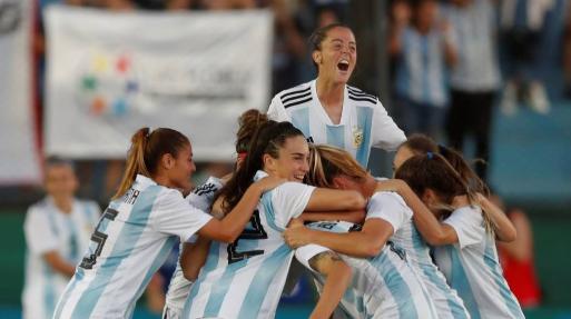 Festejo de gol en el repechaje contra Panamá, 4 a 0 | Fuente: Juan Ignacio Roncoroni de EFE