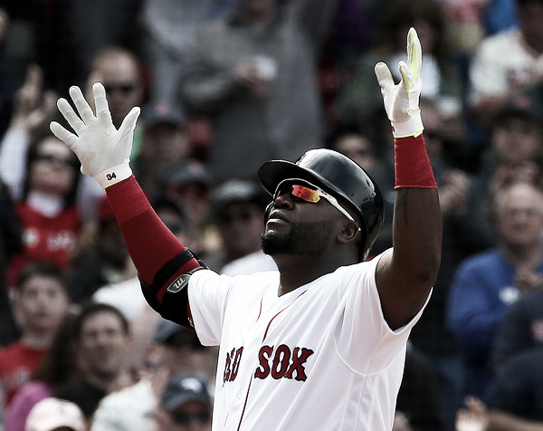 David Ortiz celebrates after his 514th career home run. Photo: Jim Rogash/Getty Images North America