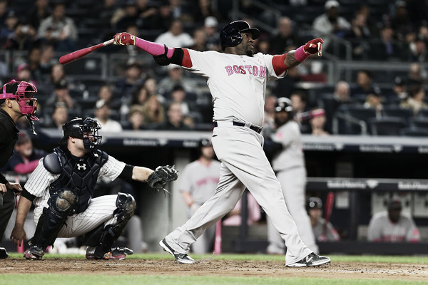 David Ortiz hits a home run in the fourth inning. (Photo: Mike Stobe/Getty Images North America)