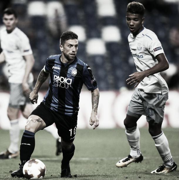 Papu Gómez durante la noche histórica en Liverpool | Fuente: Facebook Atalanta
