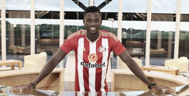 Papy Djilobodji became Moyes' first signing as Sunderland manager in August. (Photo: Sunderland AFC)