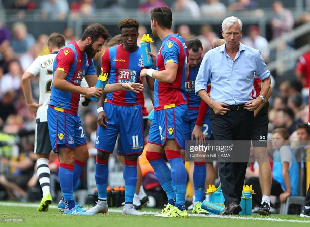 There was rumours that Pardew had lost the dressing room last month. Photo: Getty