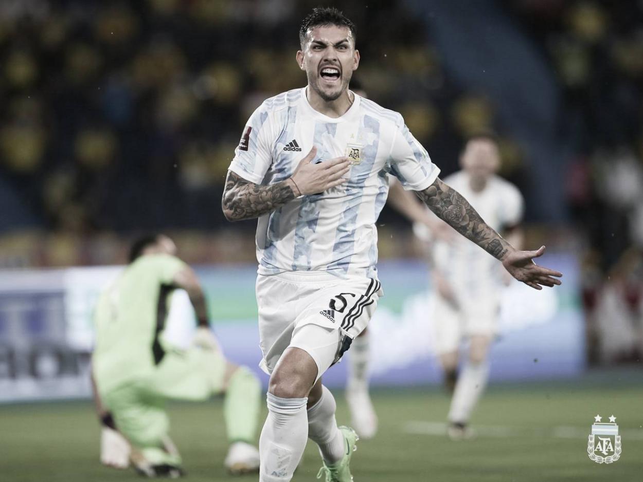 Leandro Paredes y un gol que ilusionaba a Argentina   Foto: Argentina