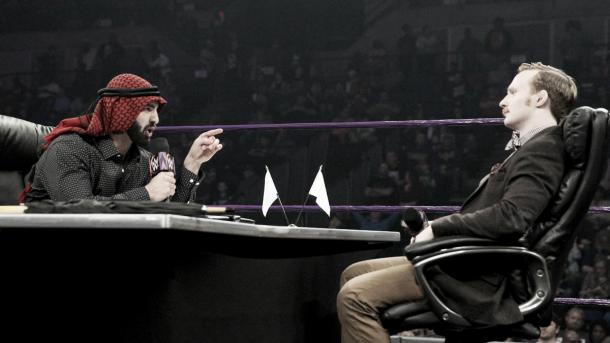 There was no peace between these two men. Photo-WWE.com