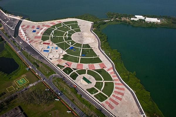 Parque dos Atletas, localizado na Barra da Tijuca. Fonte: Divulgação