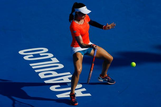Christina McHale outlasted Monica Puig on her way to the last four.  (Photo: Mextenis)
