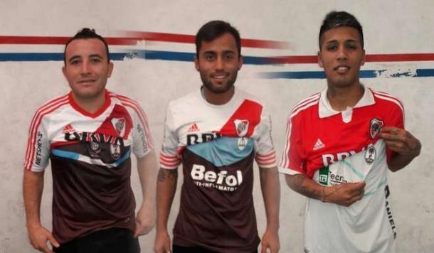 Millonarios. Gauna, Godoy y Cuenca. (Foto: Ole)