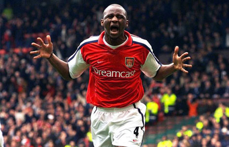 Patrick Vieira became a legendary figure under Wenger | Photo: getty